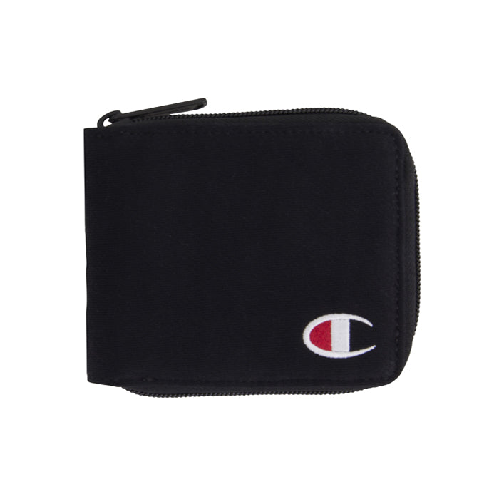 Champion Black Zip Bi Fold Wallet
