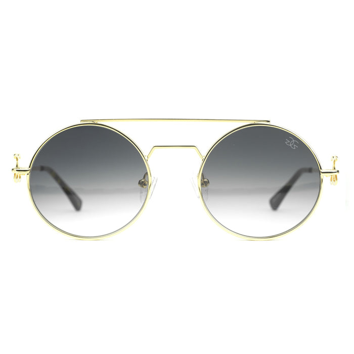 Gold Gods Visionaries Black Gradient Sunglasses