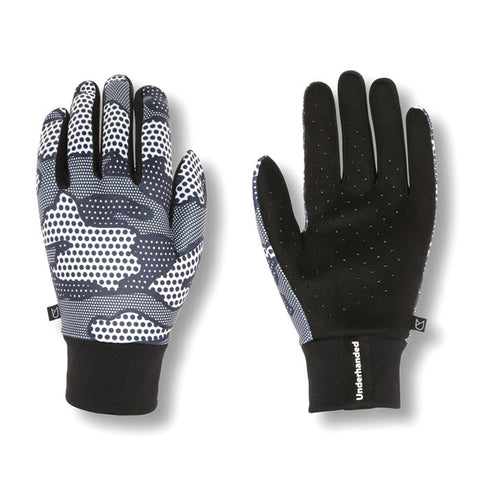 Underhanded Polka Camo Gloves