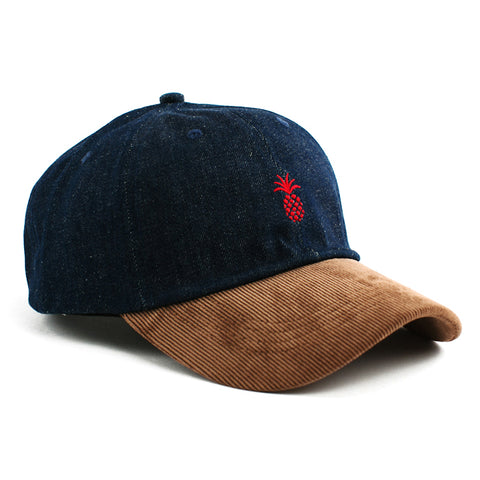 Qilo Pineapple Steel Blue Suede Hat
