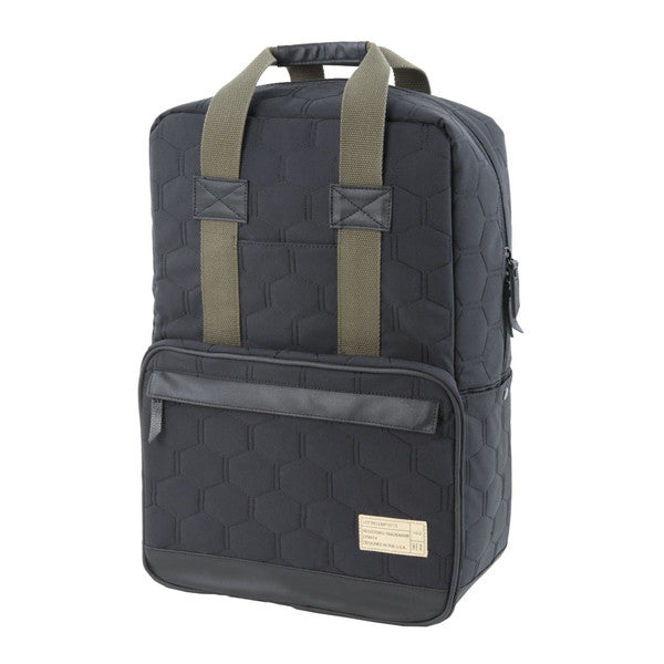 Hex Black Quilted Convertible Backpack