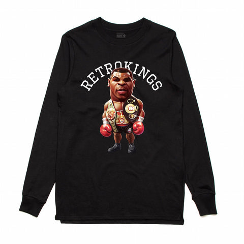 Retro Kings King James Black L/S Tee