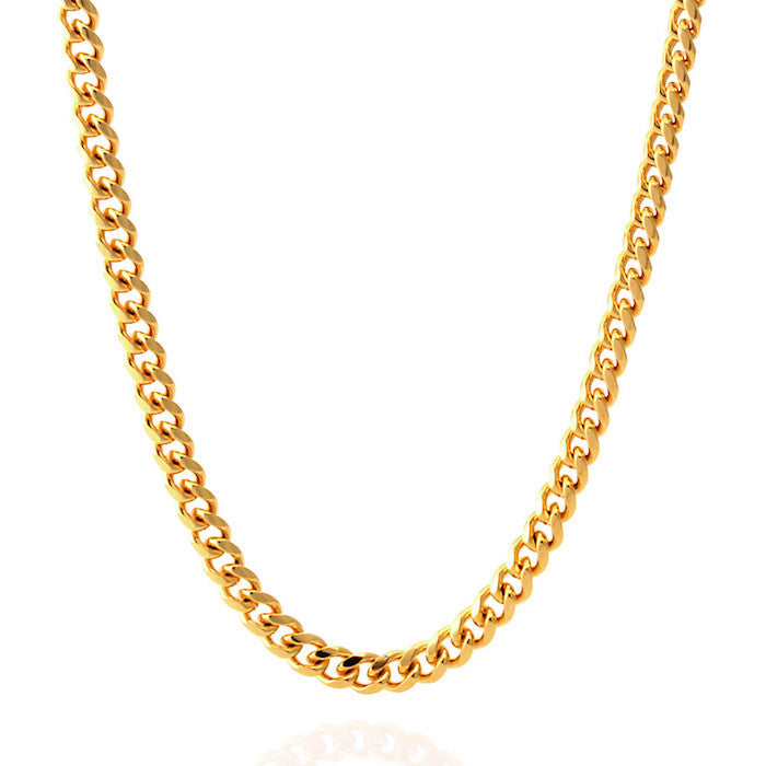 King Ice Cuban Curb Necklace