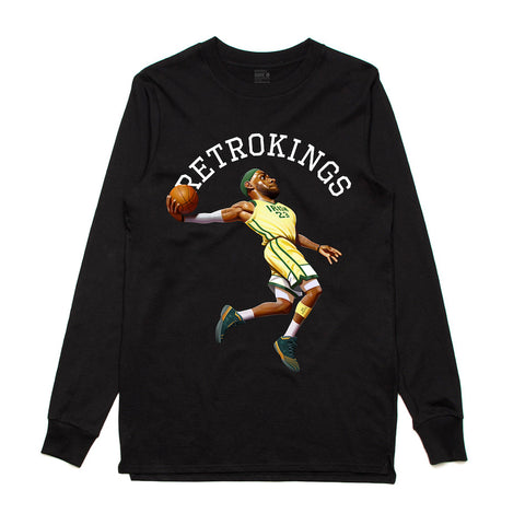 Retro Kings Marvin the Martian Black L/S Tee