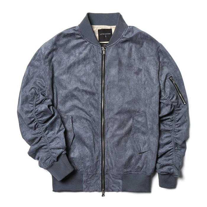 Lifted Anchors Blue Suede Bird Bomber