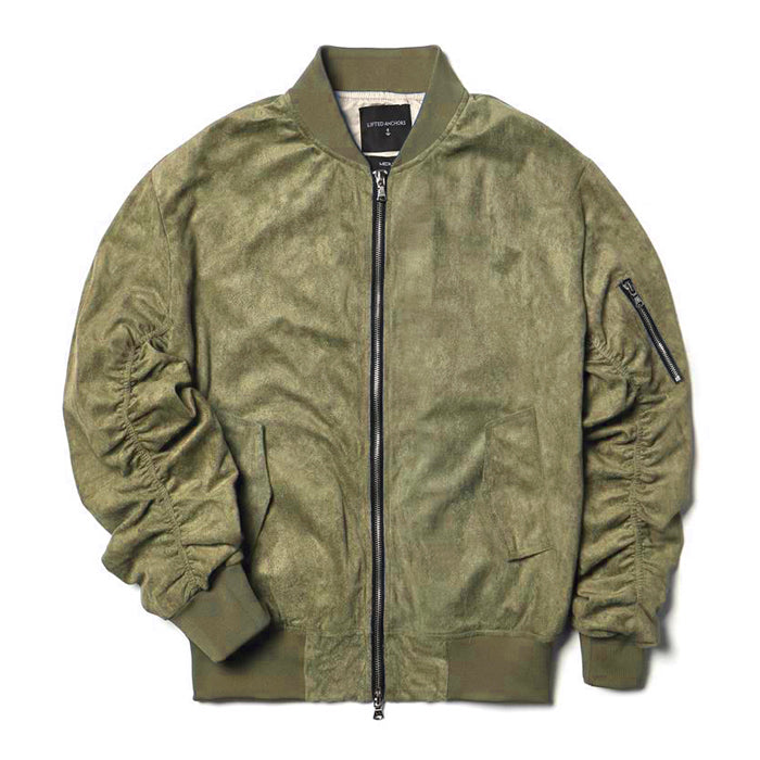 df6ae68b8 Lifted Anchors Olive Suede Bird Bomber