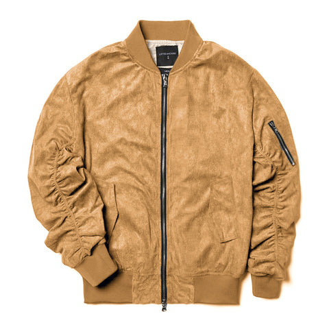 Lifted Anchors Tan Suede Bird Bomber