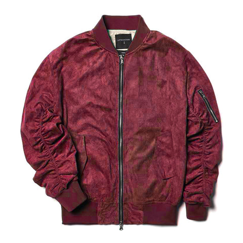 Lifted Anchors Violet Suede Bird Bomber