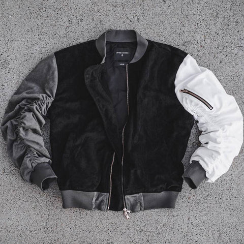 Lifted Anchors Multi Suede Bird Bomber