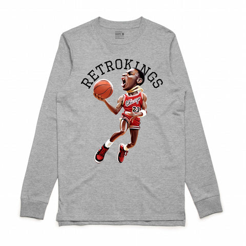 Retro Kings MJ 1985 Grey L/S Tee