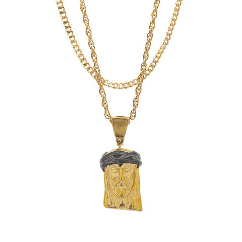 Mister Jesus Gold & Black Necklace