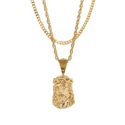 Mister Micro Jesus Gold Necklace