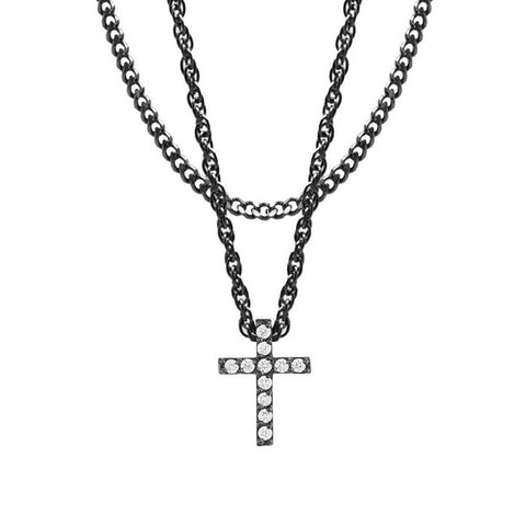 Mister Crucis Black Necklace