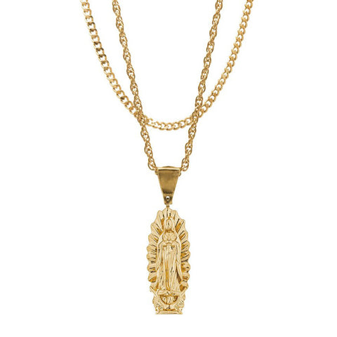 Mister Guadalupe Gold Necklace