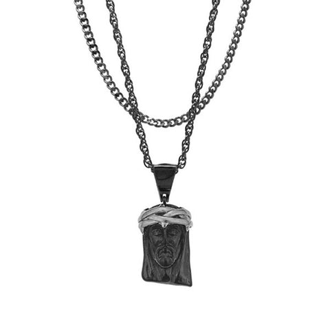 Mister Jesus Black & Chrome Necklace