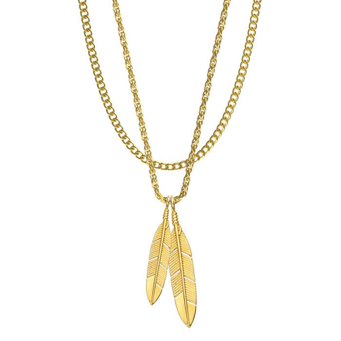 Mister Feather Gold Necklace – Beyond Hype | Premier Streetwear