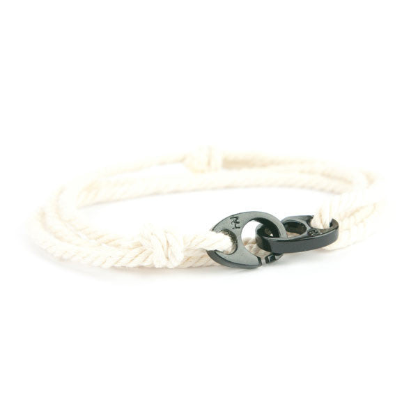 Nautical Black Brummel Cream Bracelet