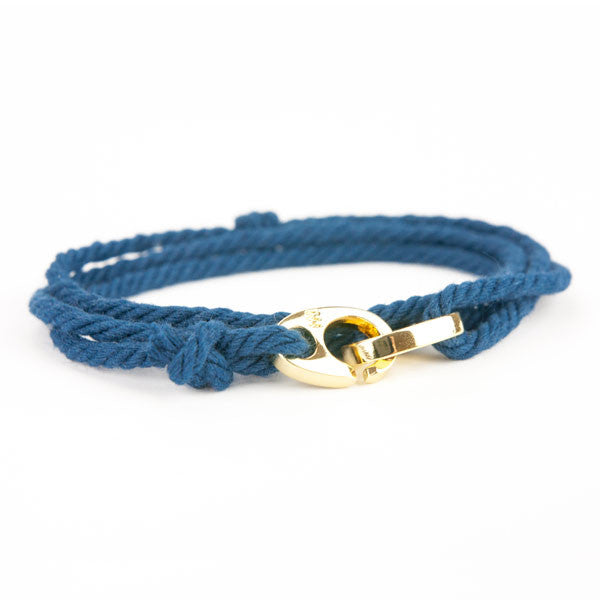 Nautical Gold Brummel Navy Bracelet