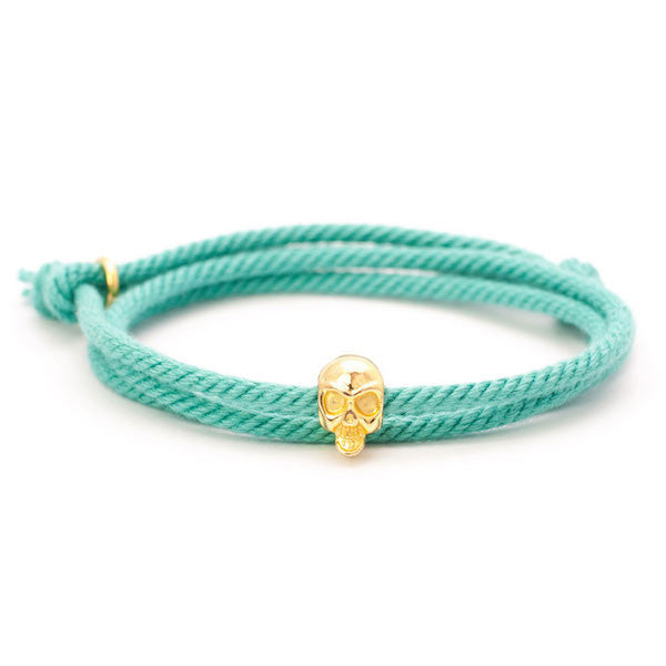 Nautical Mint Skull Bracelet