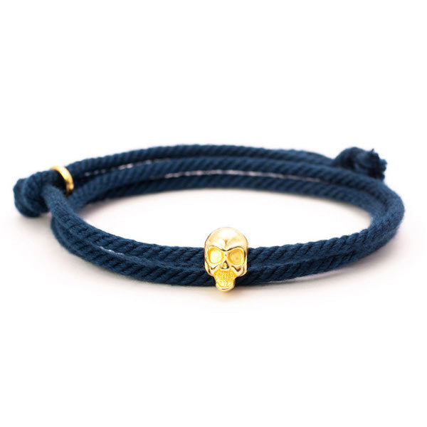 Nautical Navy Skull Bracelet