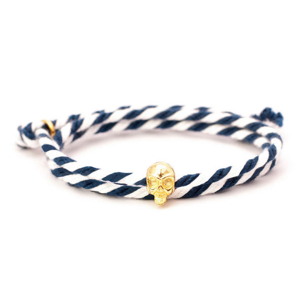 Nautical Navy/White Skull Bracelet