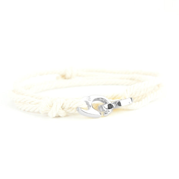 Nautical Silver Brummel Cream Bracelet
