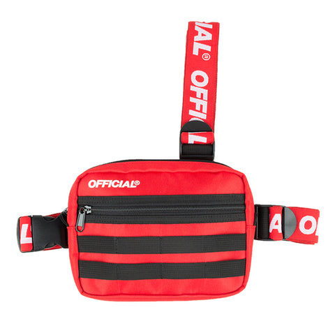 Official Piste Red Tri Strap Bag