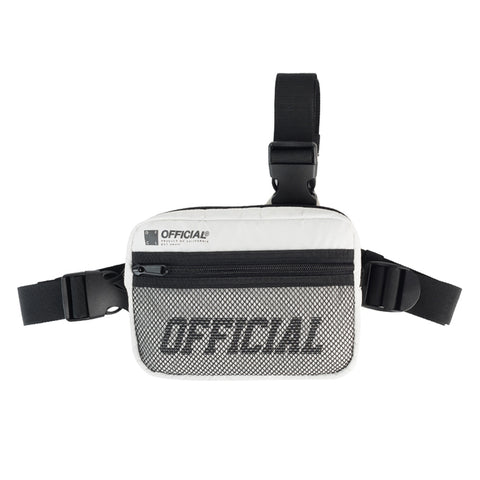 Official White Tri Strap Chest Bag