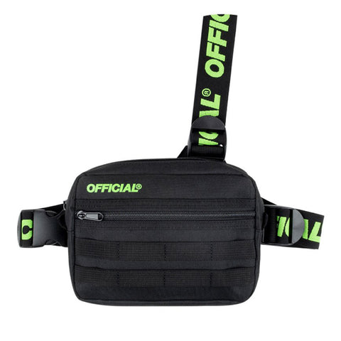 Official Piste Black Volt Tri Strap Bag