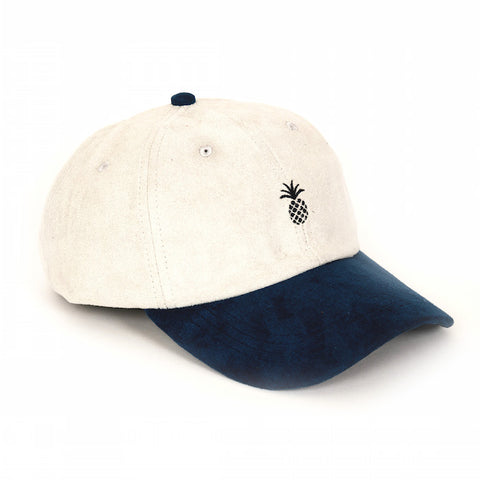 Qilo Pineapple Suede Ivory Dad Hat