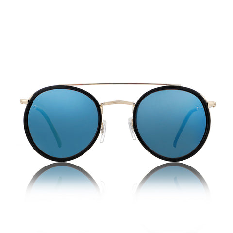 Glassy Parker Black & Blue Sunglasses