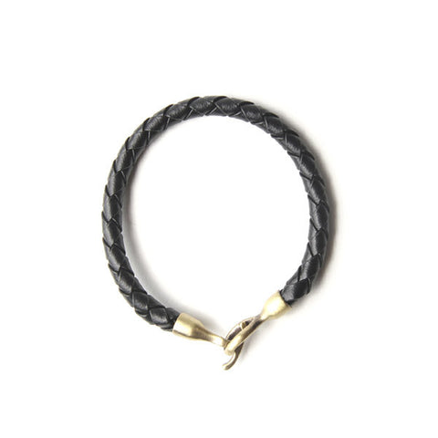 Profound Braided Passage Black Leather Bracelet