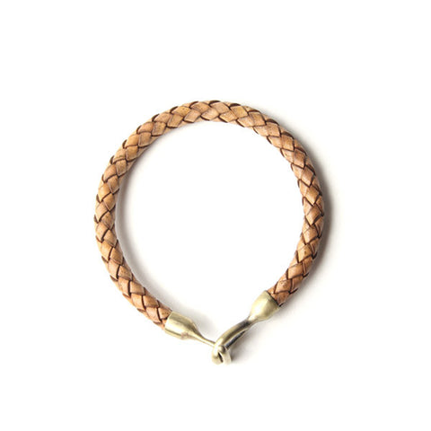 Profound Braided Passage Natural Leather Bracelet