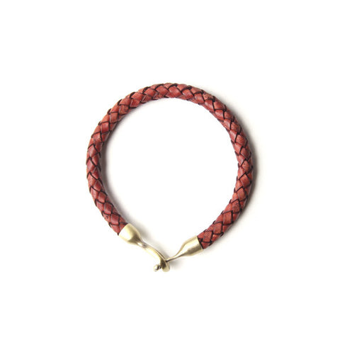 Profound Braided Passage Red Leather Bracelet