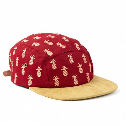 Qilo Pineapple Suede Red Hat