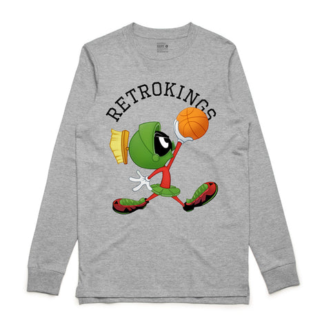 Retro Kings Marvin the Martian Grey L/S Tee