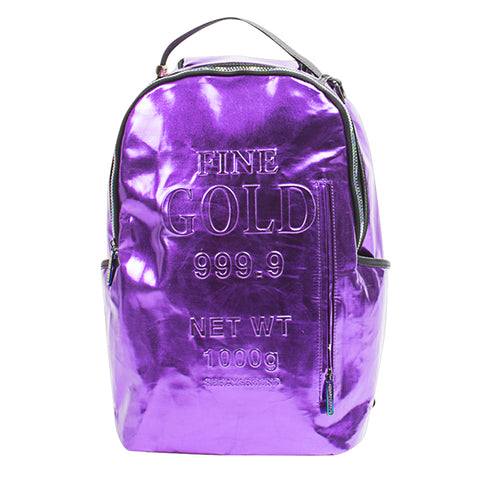 Sprayground Purple Gold Backpack