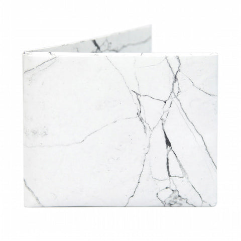 Walart White Marble Wallet