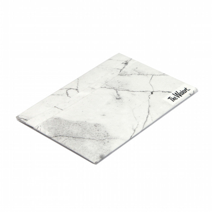 Walart White Marble Card Wallet