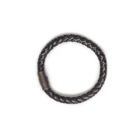 Profound Unified Zeal Braided Leather Bracelet
