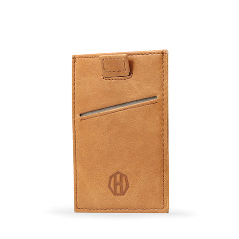 Haxford Brown Leather Sleeve Wallet