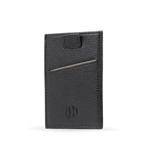 Haxford Black Leather Sleeve Wallet