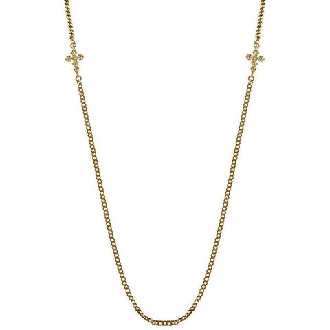 Mister Double Micro Crucis Necklace