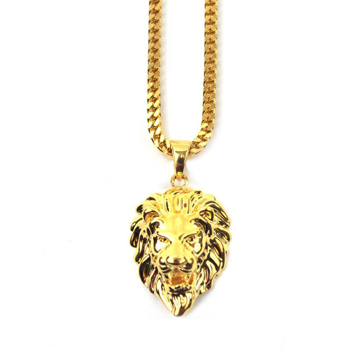 Gold Gods Lion Necklace