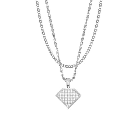 Mister Solitaire Silver Necklace