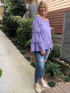 Cecille Off The Shoulder Top - Lilac