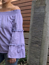 Load image into Gallery viewer, Cecille Off The Shoulder Top - Lilac