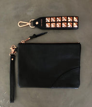 Load image into Gallery viewer, Dalia Studded Rose Gold Hand Strap
