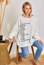 Load image into Gallery viewer, PRE-ORDER - Designer Snob Sweater - White