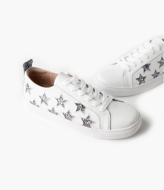 Haven Leather Sneaker - Charcoal Glitter Star